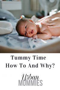 Baby enjoying tummy time