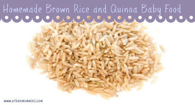 Homemade Brown Rice and Quinoa Baby Food