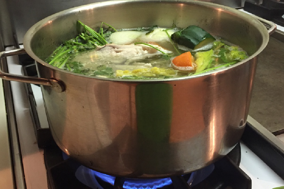 Making Bone Broth or Stock