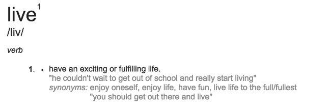 Live Definition