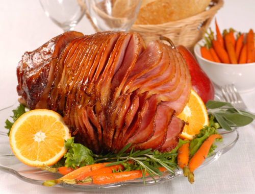 Honey-Glazed-Ham-with-Pineapple-Chutney