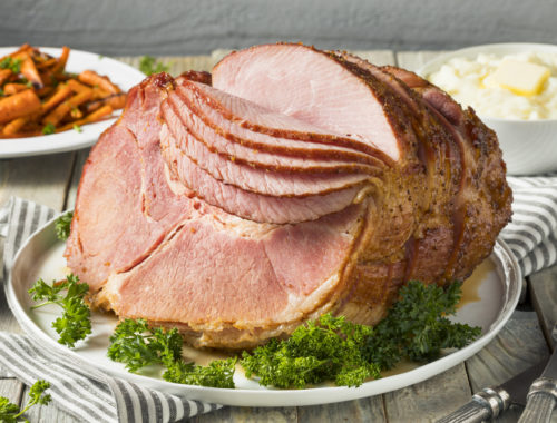 Roasted Spiral-Sliced Ham with Maple and Orange Marmalade Glaze