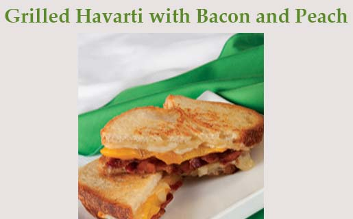 Grilled Havarti with Bacon and Peach