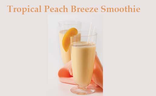 Tropical Peach Breeze Smoothie