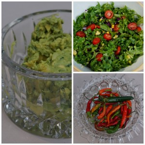 Fresh Guacamole and Mexican Salad