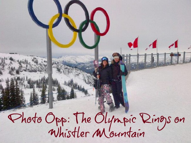 Olympic Rings on Whistler Mountain