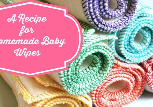 Natural Homemade Baby Wipe Recipe