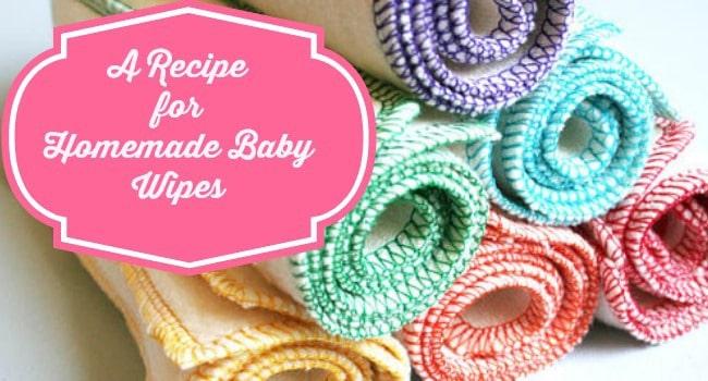 Natural Homemade Baby Wipe Recipe