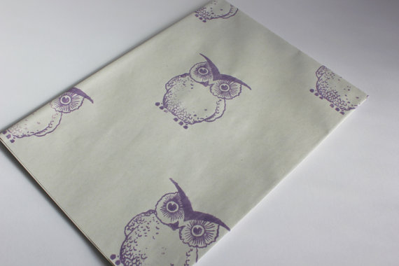 Hand Stamped Wrapping Paper