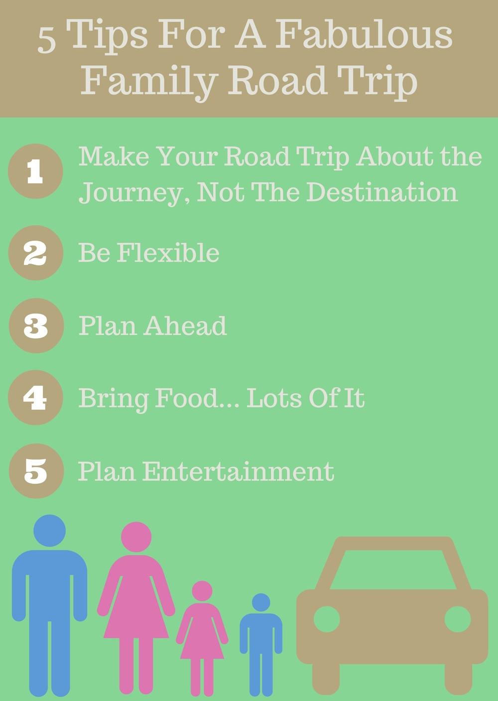 5 Tips for A Fabulous Family Road Trip Infographic from Urban Mommies