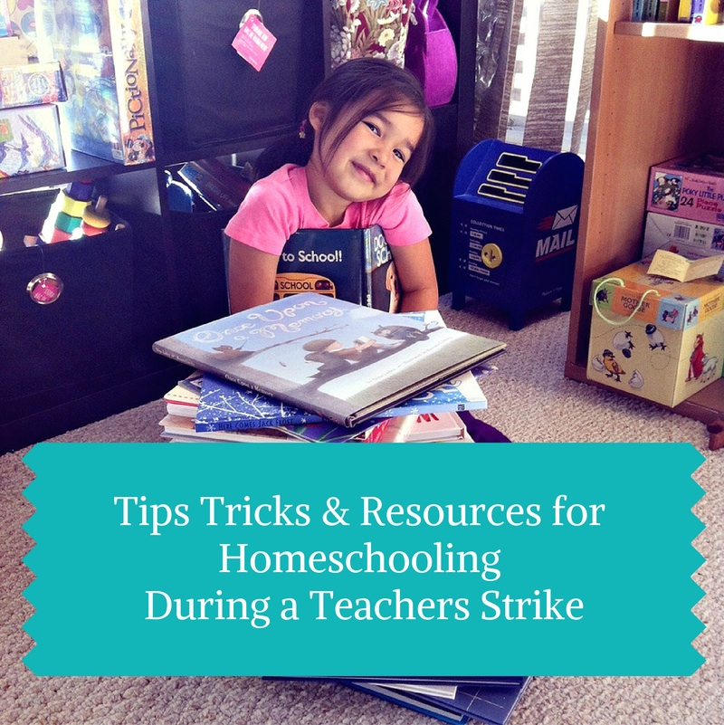 Tips Tricks & Rescources For Homeschooling During a Teacher's Strike