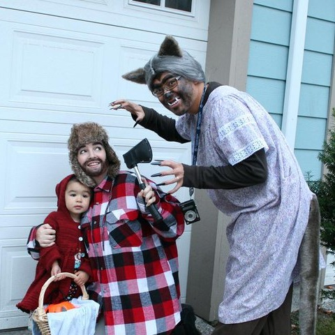 Family Themed Halloween Costume. Little Red Riding Hood