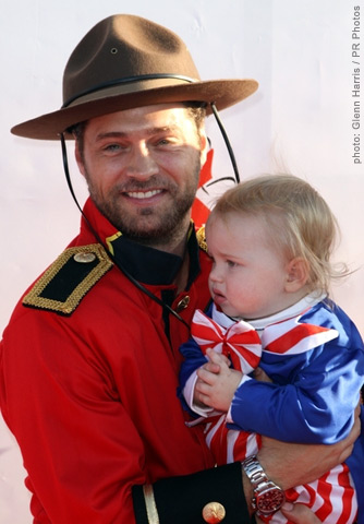 Jason Priestley's Mountie Costume