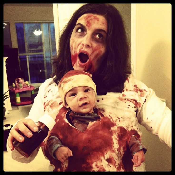 Mommy and Baby Halloween Costume. Zombie Mom and Baby Walking Dead Costume