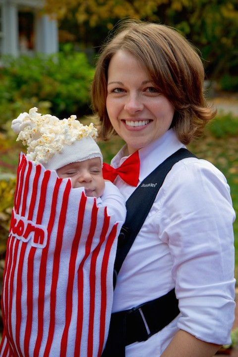 Mommy and Baby Popcorn Vendor Family Costume