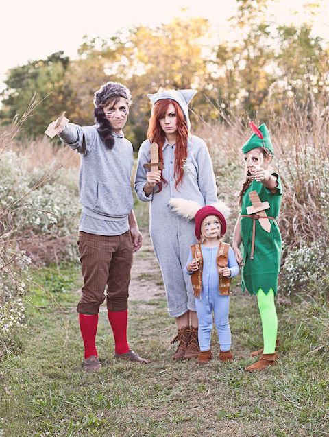 Peter Pan and The Lost Boys Family Halloween Costume