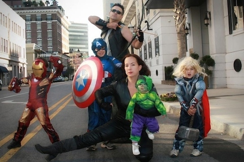 The Avengers Family Halloween Costume