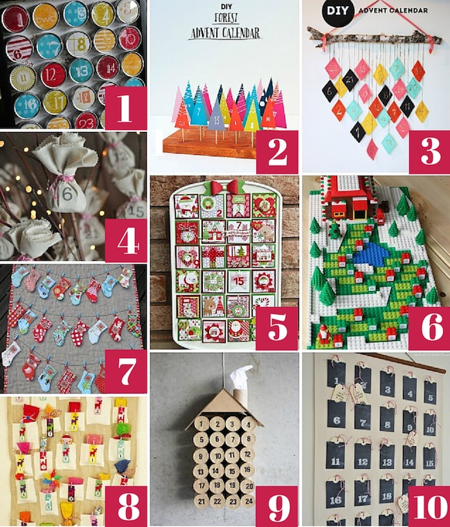 10 DIY Advent Calendars You Can Make At Home From Urban Mommies