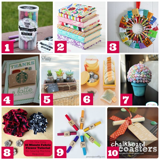 10 Teacher Christmas Gifts With A Handmade Personal Touch from Urban Mommies