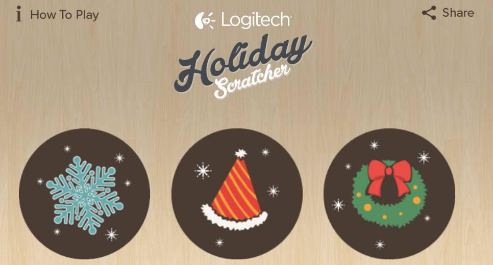 Logitech Holiday Scratcher