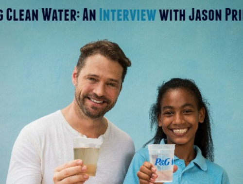 Jason Priestly Drinking Water