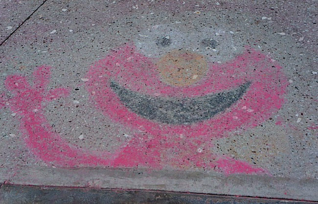 Elmo Sidewalk Chalk Beaches