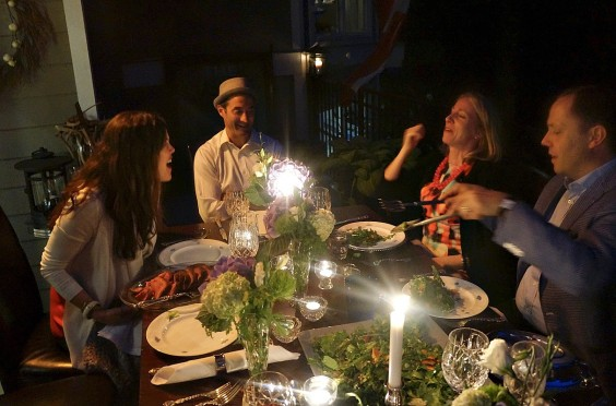 Sparkling Clean Dinner Table and Guests