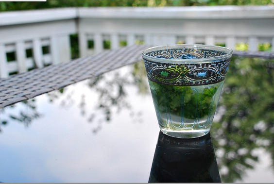 Spring Cocktail in a Vintage Glass
