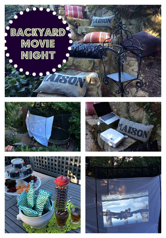 DIY Backyard Movie Night