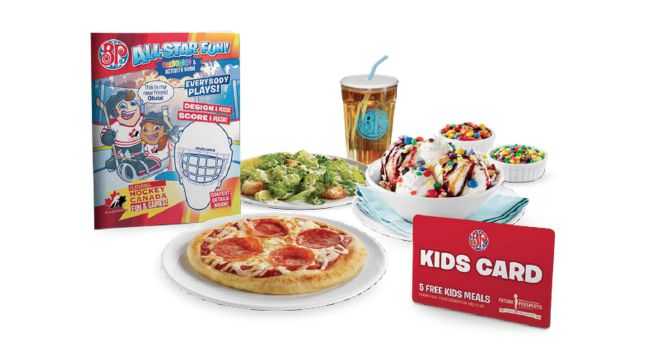 Kids Cards Boston Pizza