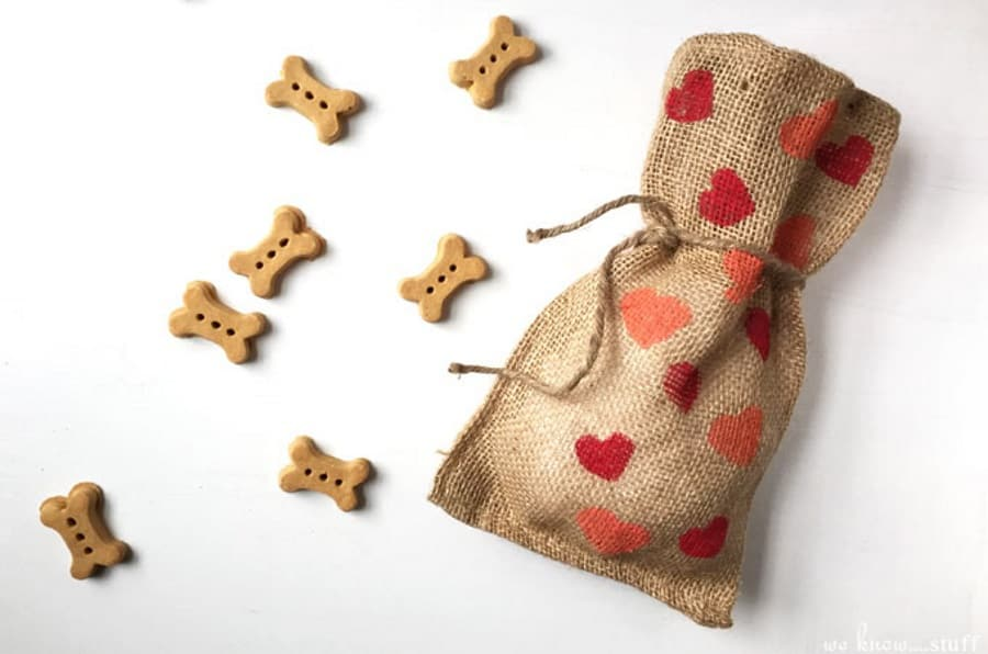 Valentine Heart Dog Treat Bags