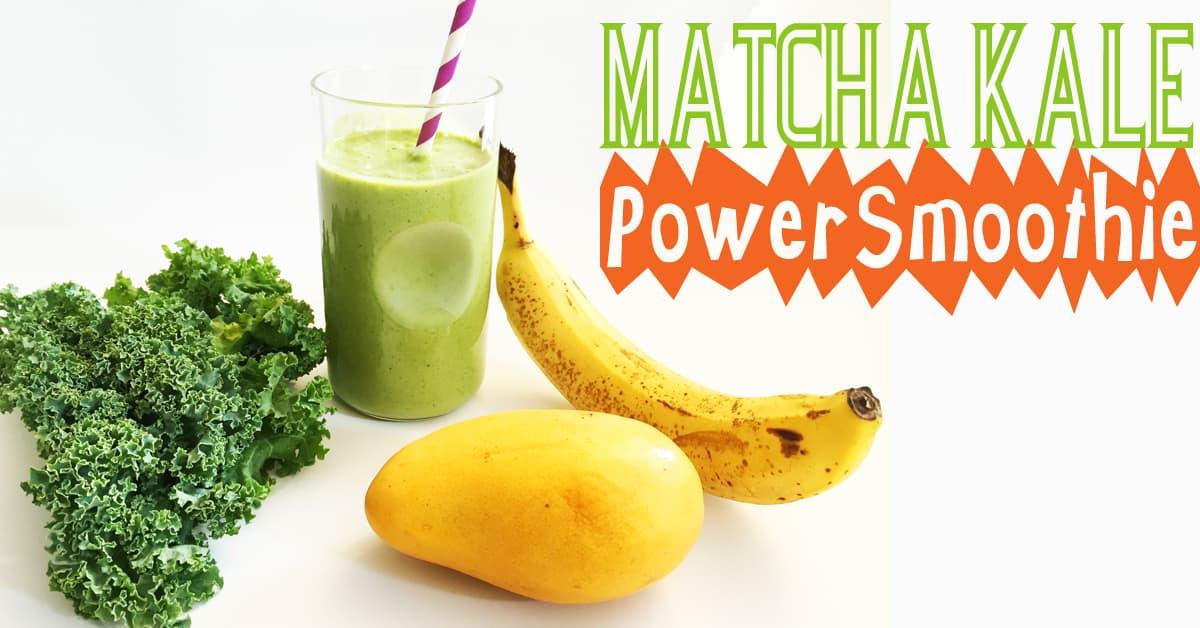 Matcha Kale Power Smoothie