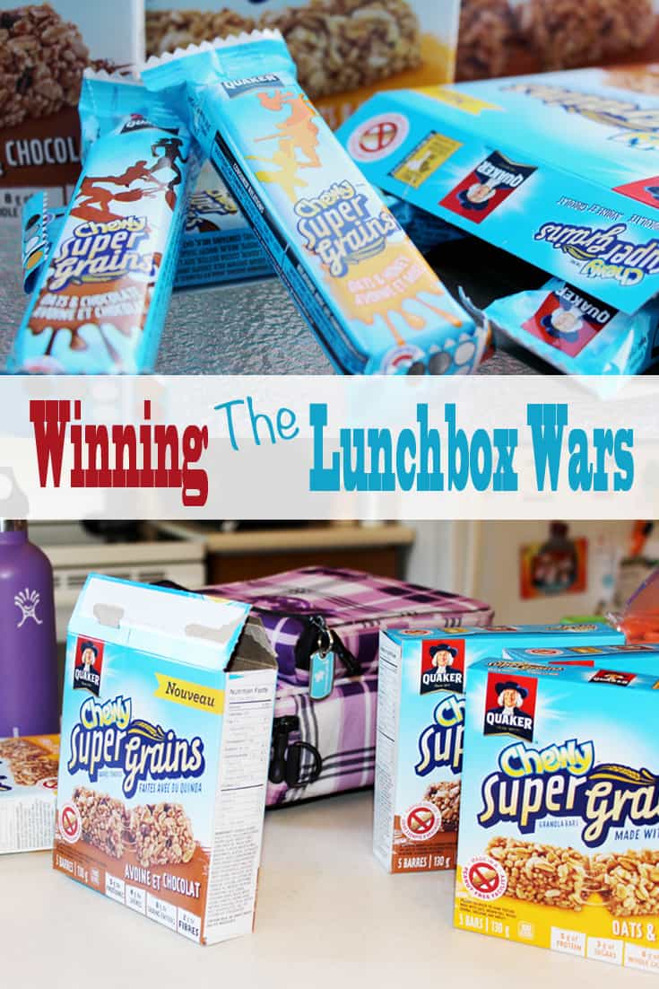 The first day of school is filled with so much lunchbox promise -- until you realize you've got to pack lunches and snacks for another ten months! Quaker Chewy Super Grains granola bars help win the lunchbox wars.