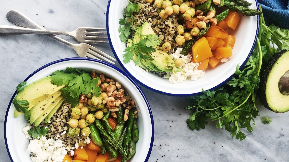 Eat What You Want Day Healthy Spring Quinoa Bowl