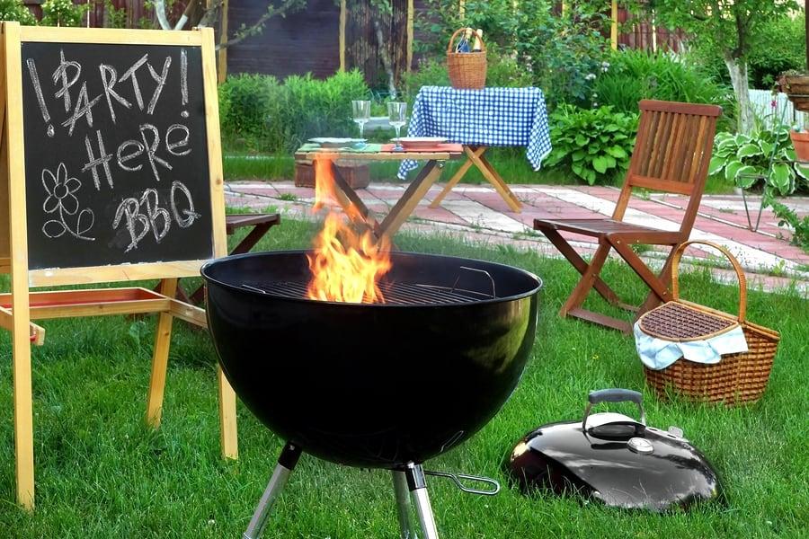 Summer Backyard Bbq Grill Party Scene