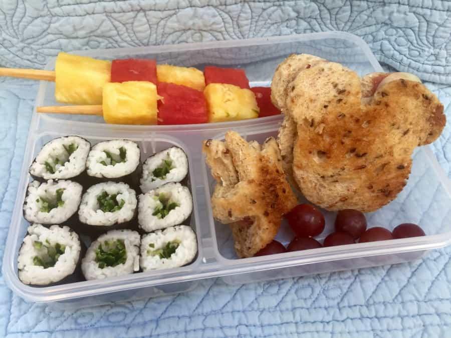 Sushi Fruit Skewer Bento