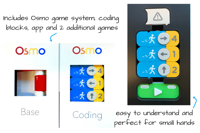 gifts to make your kids smarter : stem toys - osmo coding blocks