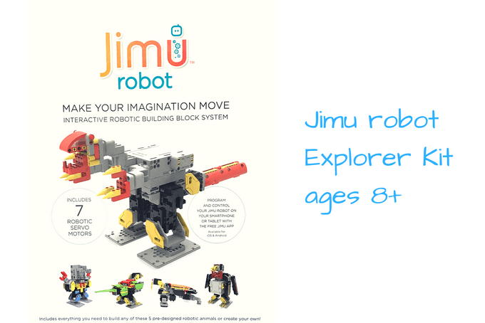 Gifts to make your kid smarter: Jimu Robot