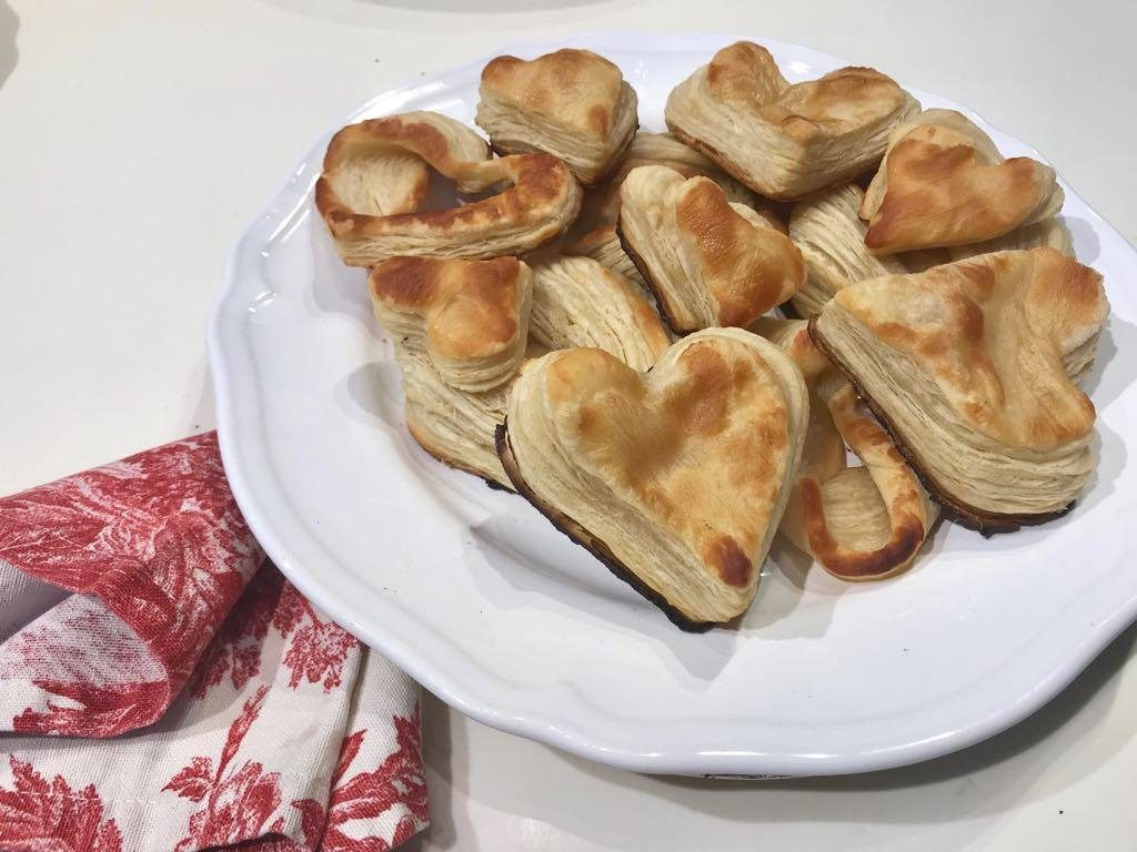 mushroom stroganoff in puff pastry on a plate
