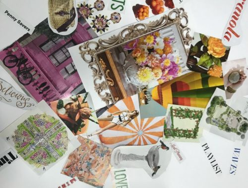 vision board magazine clippings
