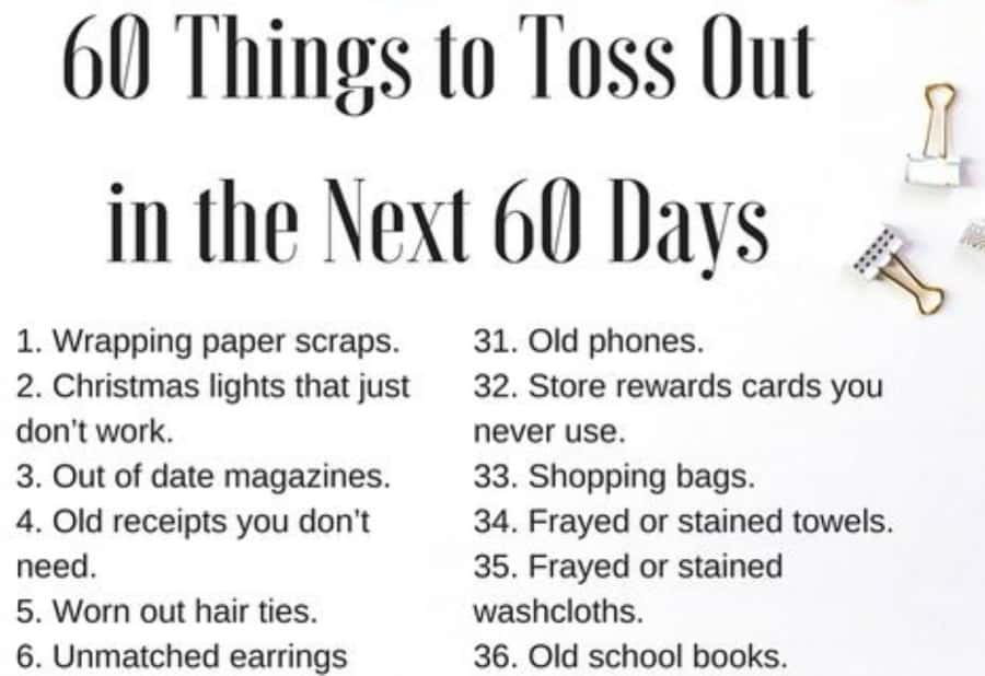 60 things to toss out