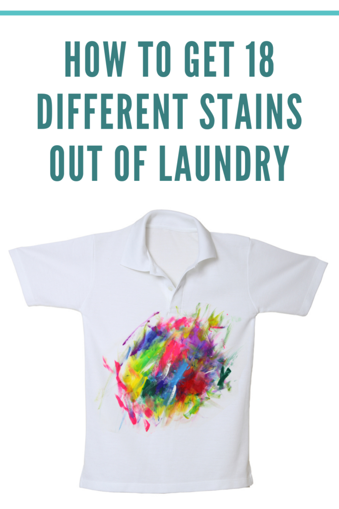 Getting Stains Out of Laundry
