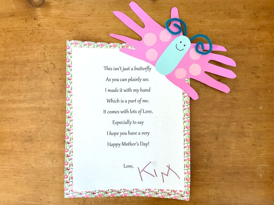 Hand Butterfly Card