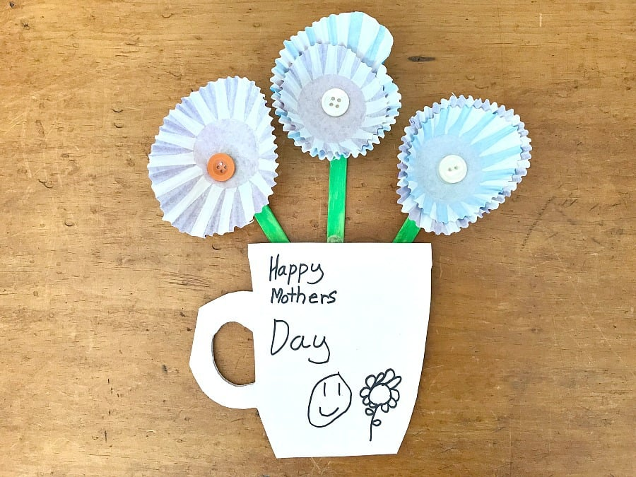 Mothers Day Muffin Liner Card