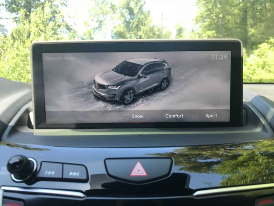 Acura RDX Snow Mode