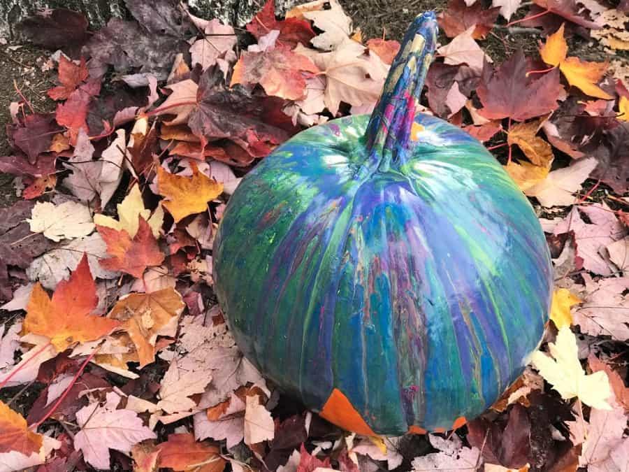 Acrylic Poured Pumpkin