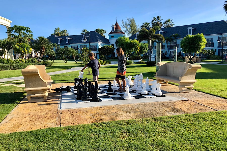 Giant Chess at Beaches Resorts