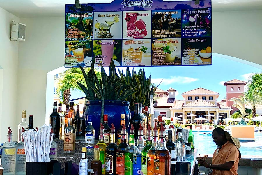 Kids drink selection at Beaches Resorts