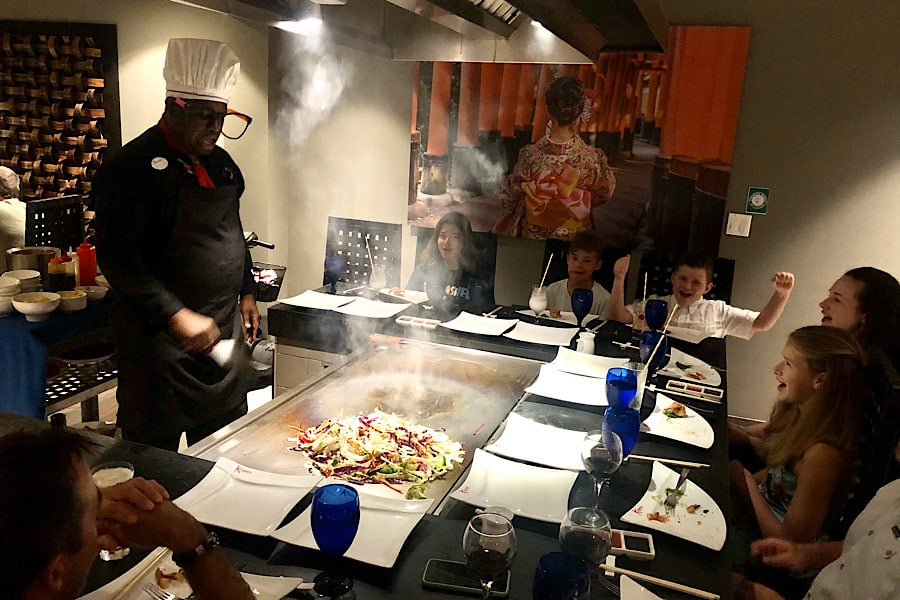 Kimonos restaurant at Beaches Resorts