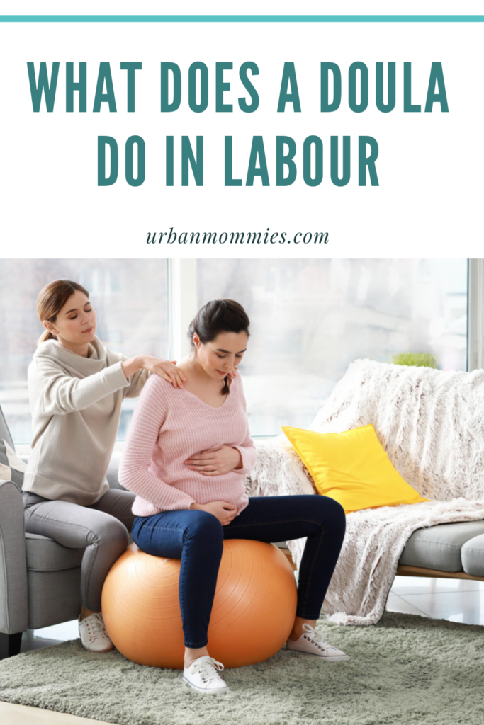 A doula for labor